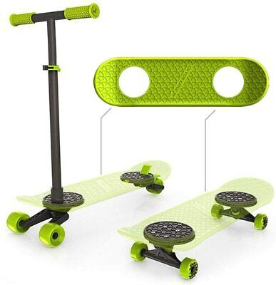 MORFBOARD Transforming SkateBoard & Scooter Combo (Chartreuse-Black) 8 -15 years