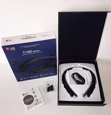 NEW Genuine LG - TONE Active HBS-A80 Bluetooth Headset - Black