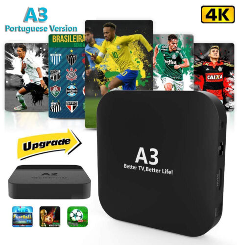 A3 Portuguese Version IPTV 4K BRAZIL Android TV BOX