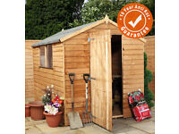 BRAND NEW 8 x 6 Waltons Ultra Value Overlap Apex Wooden Garden Shed