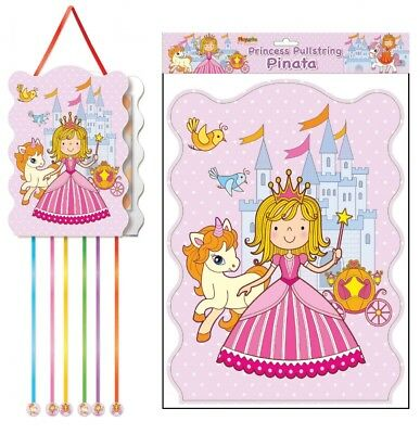 Princess Pullstring Pinata - 40cm x 30cm - Loot/Party Game Toy Kids Hang - 40 Pinata