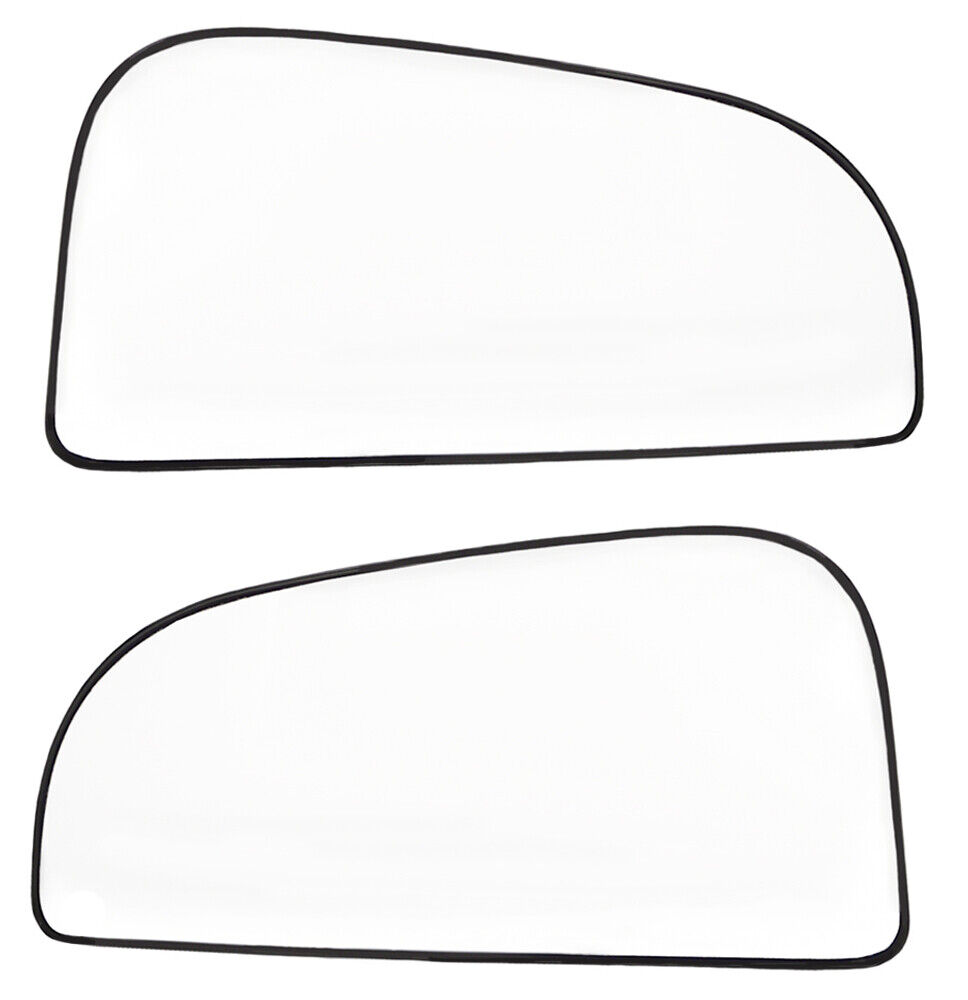 New LH & RH Side Convex Power Mirror Glass Set For Dodge