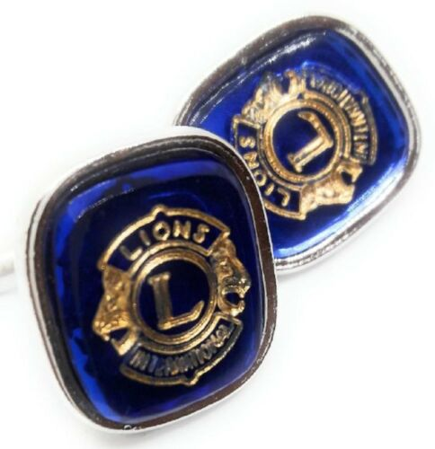 LIONS CLUB CUFFLINKS SILVER PLATED MANUFACTURERS DIRECT PRICING