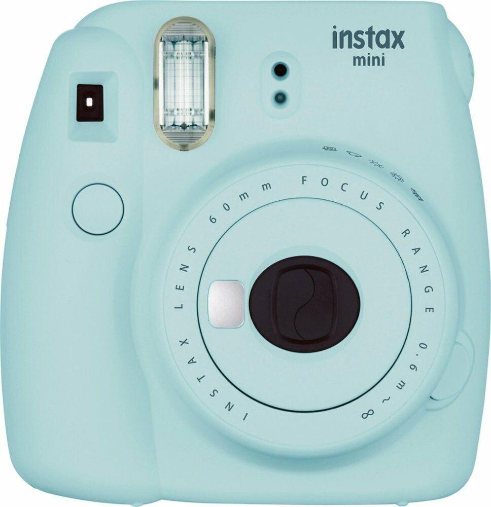 FUJIFILM - INSTAX Mini 9 Instant Film Camera - (Ice Blue) - UD No Box - Read