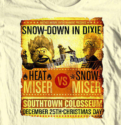 Snow Miser vs Heat Miser T-shirt Year Without a Santa Clause Christmas retro tee ()