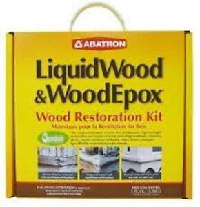 Abatron Liquid Wood Wood Epox Wood Restoration 4 Quart Kit