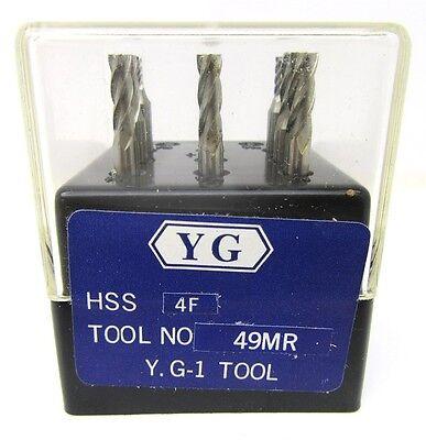 Yg-1 4fl 9pc De Hss End Mill Set 49mr