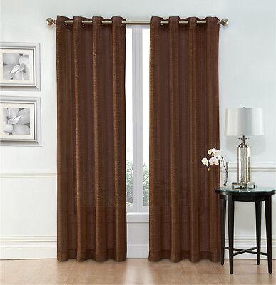 Whittier Metallic Sparkle Semi Sheer Grommet Curtain