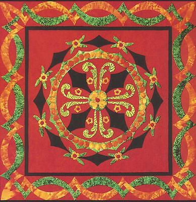 Rosemaling Traditions Quilt Pattern By Marcia Harmening Of Happy Stash Quilts