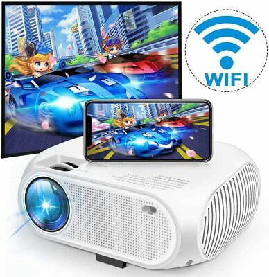 Full HD 1080P 4200 Lumens Portable Wireless WiFi Home Theater Video Projector
