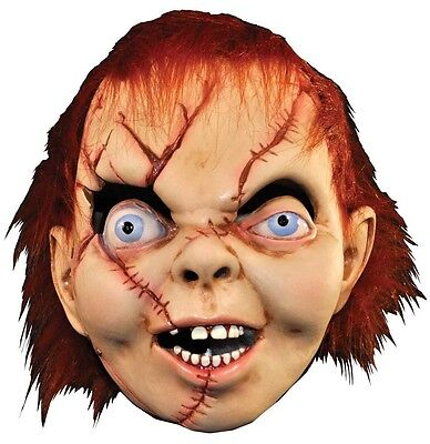Herren Damen Deluxe Chucky Child's Play Halloween Kostüm Kleid Outfit Maske ()