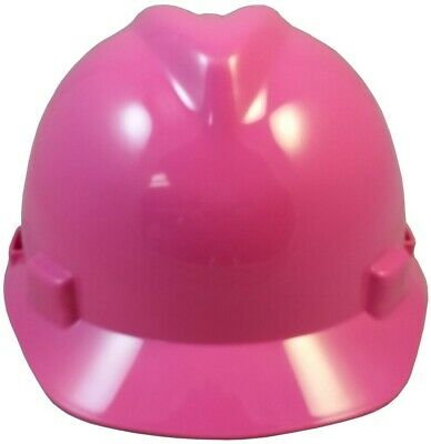 Msa V-gard Cap Style Hard Hat With Staz On Suspension - Hot Pink