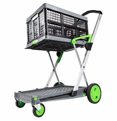 Mobile Korb (Clax Transport Klappmobil Transportwagen Einkaufskorb Faltbox grau  Etagenwagen)