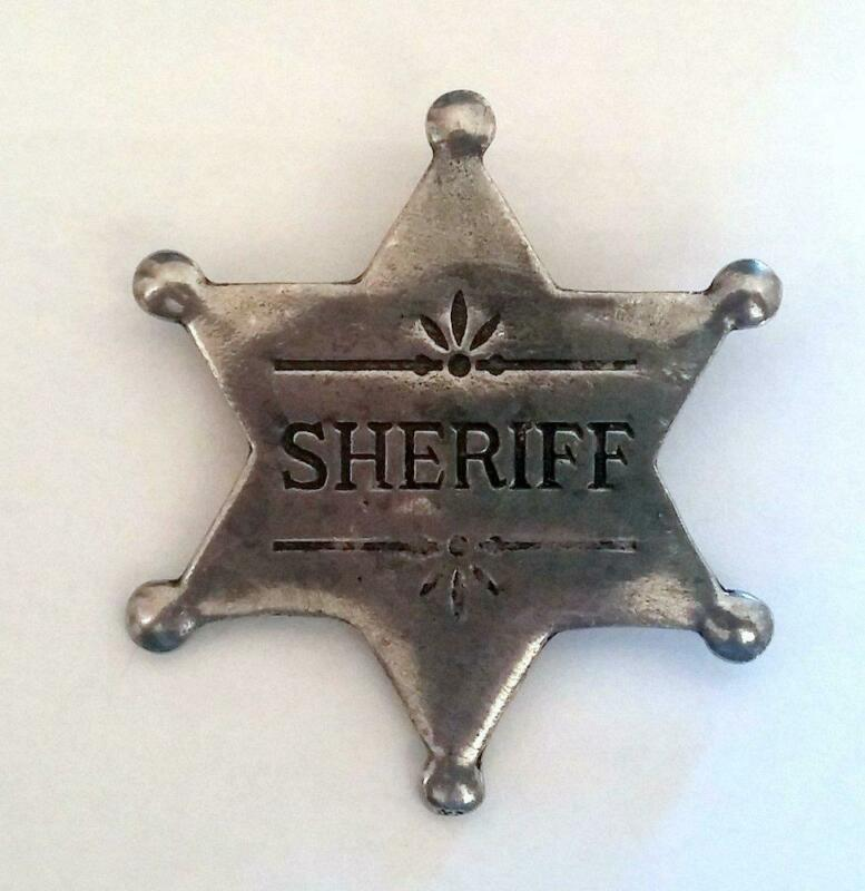 Sheriff Old West Historic Replica Badge Cast Pewter Made In The USA