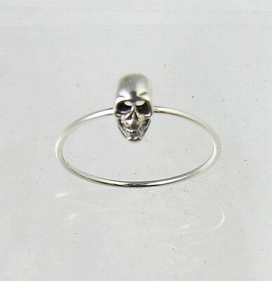 Petite Band Fun Sterling Silver Scary SKULL Halloween Ring Size 4-9 (Band Fun)