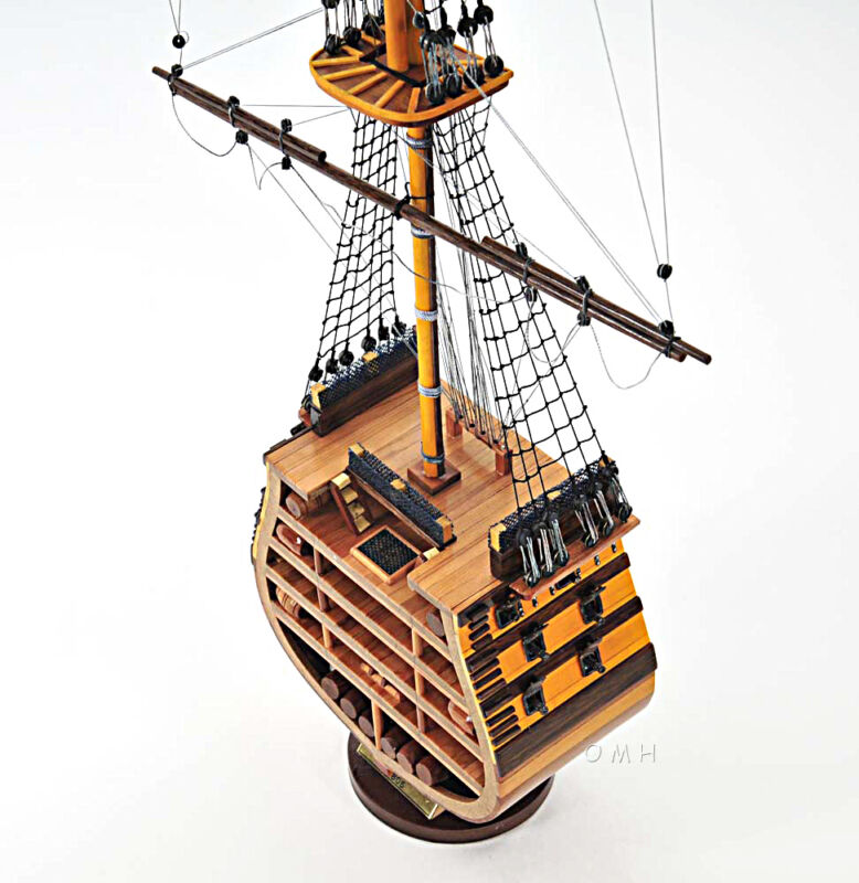 "HMS Victory Cross Section Wooden Tall Ship Model 35"" Lord Nelson"