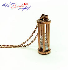 14K Rose GP Unique Old Fashion Gas Lamp Necklace/Hypoallergenic Stainless Steel