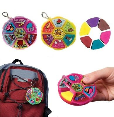 (You Pick) Scent-sibles Scented Eraser Wheel Fun in the Sun or Carnival Scents - Scented Erasers