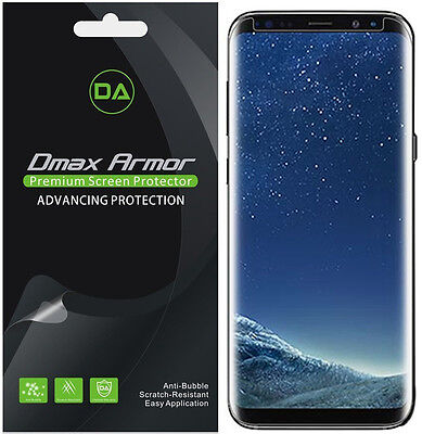 2 Pack  Dmax Armor  Case Friendly  Clear Screen Protector For Samsung Galaxy S8