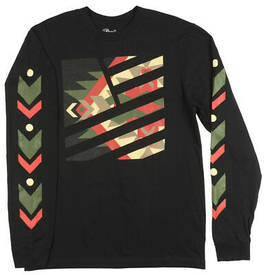 Popular Demand Arrows Long Sleeve Shirt Mens Black