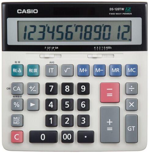 Casio Calculator 12-digit DS-120TW (Tax-adder method) Japan Model F/S New