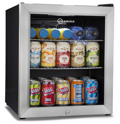 Subcold Super 50 SS LED – 49L Mini Beer/Drinks Fridge Black/Stainless Steel Door