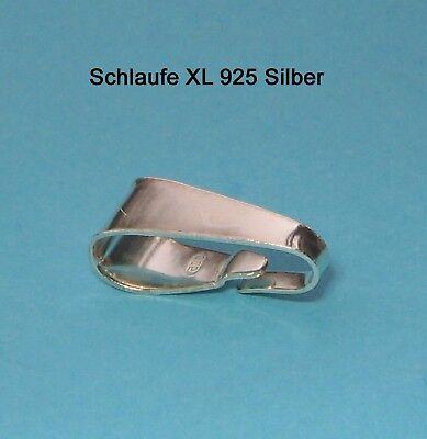 """Kettenschlaufe """"XL"""" 925 Silber Schmuckzubehör Schlaufe Öse Schmuck basteln"""