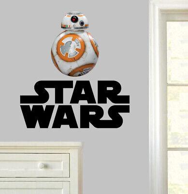 Star Wars BB8 Wall Art Stickers Bedroom Decal Droid Yoda Jedi Darth Vader