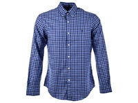 Used Mens Polo Ralph Lauren Navy Blue Check Long Sleeve Shirt Casual Formal Immaculate Condition