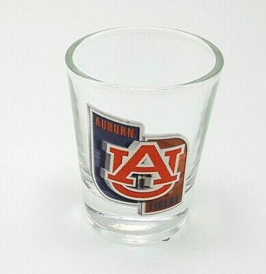 Auburn Tigers Clear Shot Glass 2 oz Round NCAA Sports College Logo Fan Team