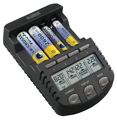 La Crosse Technology BC1000 Alpha Power Battery Charger Tester NiMH NiCd AA AAA for sale  Shipping to India