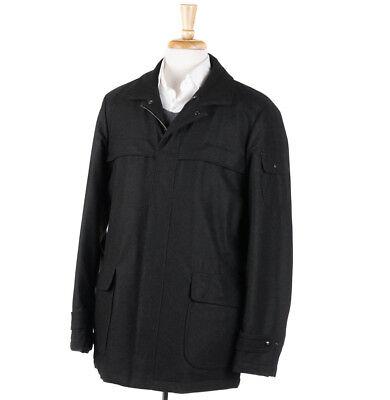 NWT $2295 ISAIA NAPOLI Dark Loden Green Wool Field Jacket XL (Eu 54) Coat Loden Green Wool