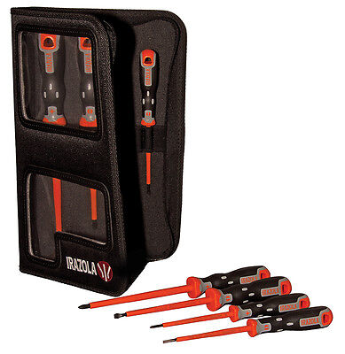 Irazola Screwdriver Set 7pc - Electricians Vde Insulated Screwdrivers Bahco