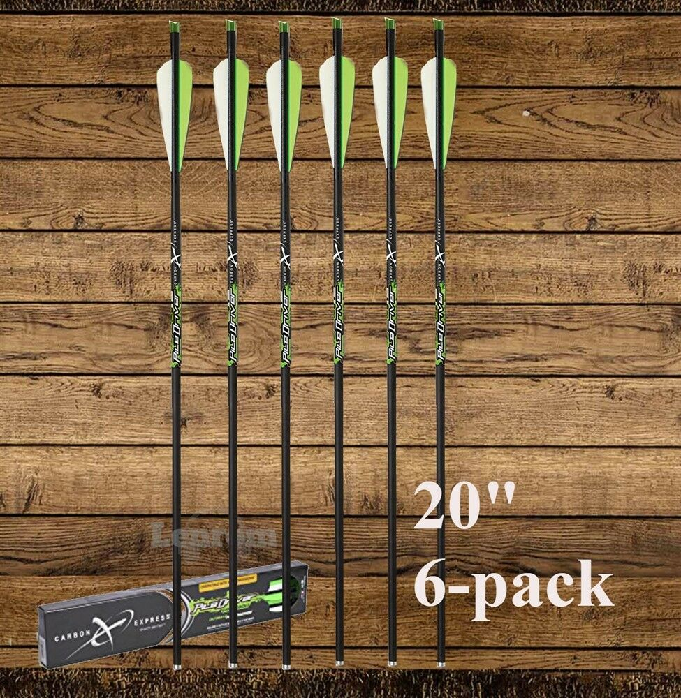52140 6-Pack Carbon Express Pile Driver 20 Inch Crossbow Arrow Bolts