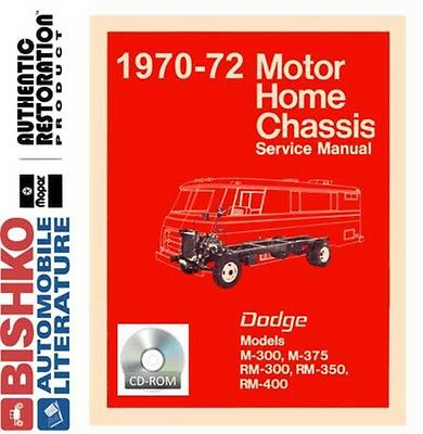 1970 1971 1972 Dodge Class A Motorhome Chassis Shop Service Repair Manual CD OEM