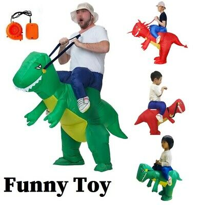 Air Dinosaur Riding Suit Funny Cosplay Dress up Halloween Suit for Adults Child
