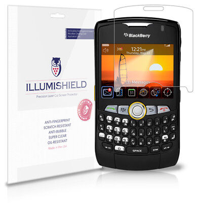 iLLumiShield Anti-Bubble/Print Screen Protector 3x for BlackBerry Curve 8350i
