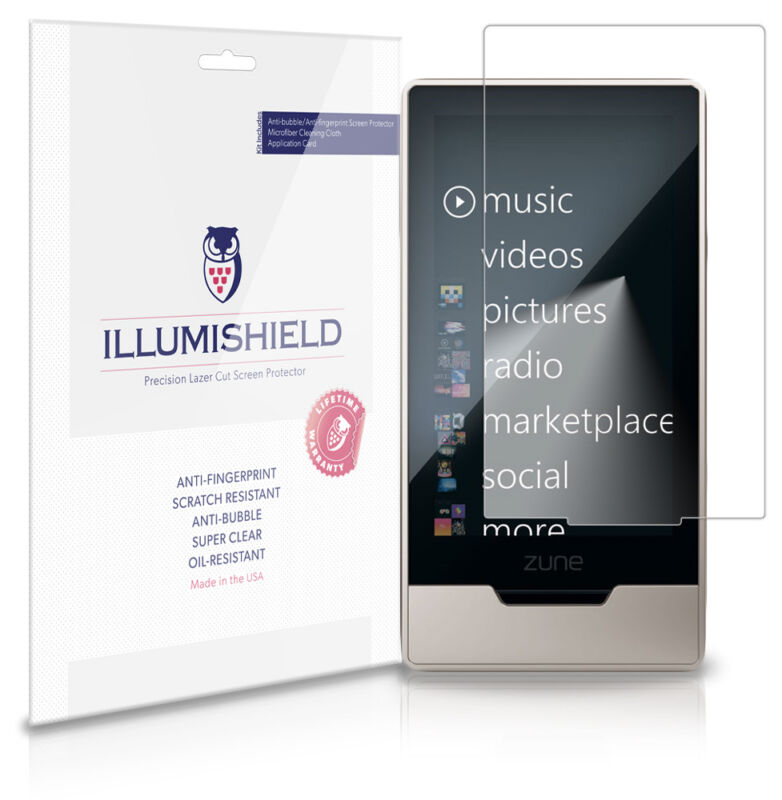 iLLumiShield HD Screen Protector w Anti-Bubble/Print 3x for Microsoft Zune HD