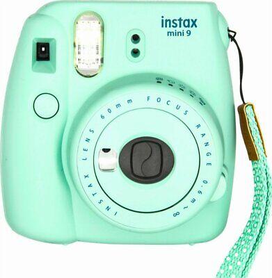 Fujifilm Instax Mini 9 Mint Green Instant Camera | Fuji Polaroid Film Camera