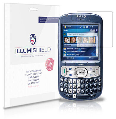 iLLumiShield Phone Screen Protector w Anti-Bubble/Print 3x for Palm Treo -
