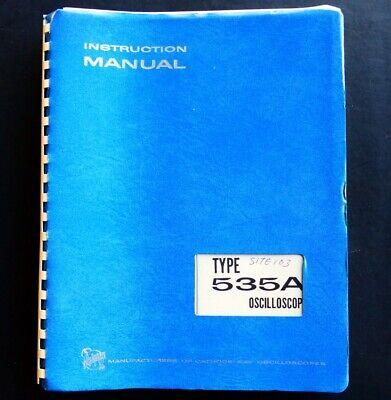 Tektronix Type 535a Oscilloscope Manual Oem Very Good Condition