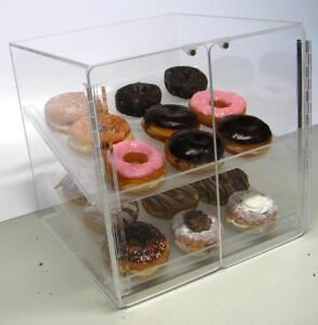 Self Serve Pastry and donut display case 2 trays deli bakery convenience candy - BRAND NEW - FREE SHIPPING