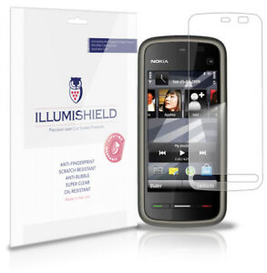 iLLumiShield Phone Screen Protector w Anti-Bubble/Print 3x for Nokia 5230