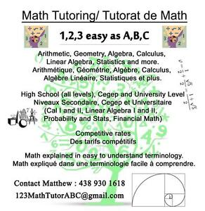 Math Tutoring - All Levels