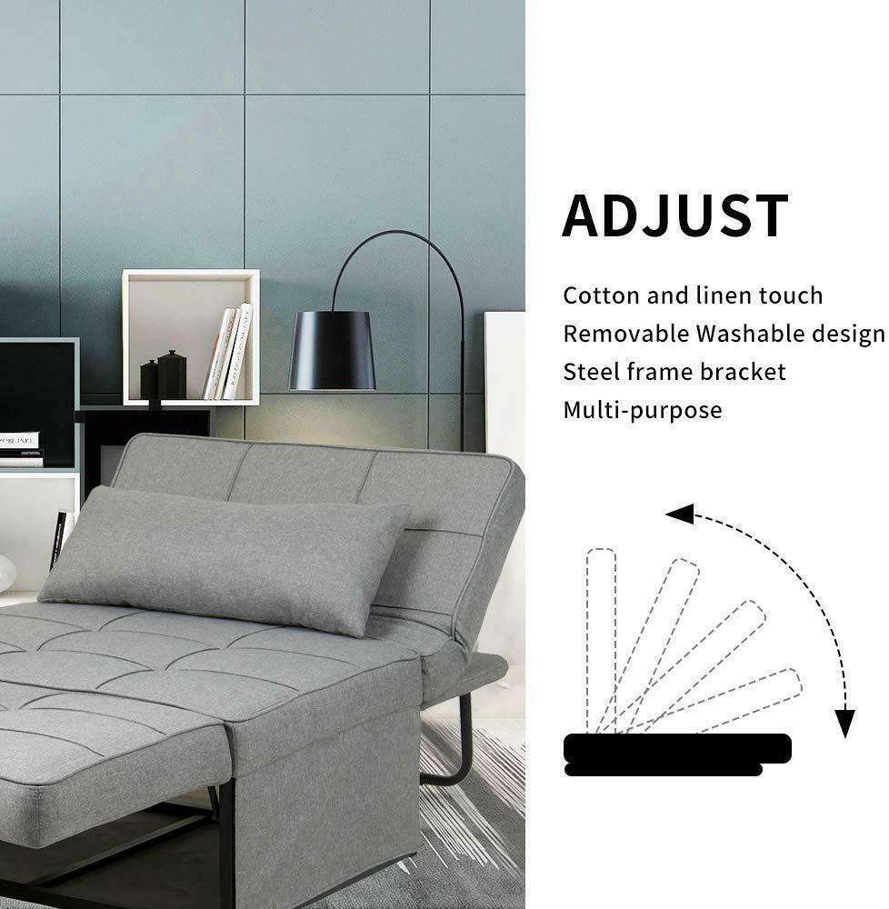 Adjustable Sofa Bed Folding Reclining Convertible Chair/Ottoman Arm Chair 9