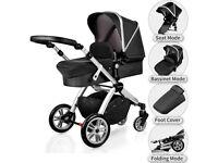 Pushchair 2 in 1 Combo Upgrade Baby Stroller Pram Buggy Bassinet Seat Hot Mom!