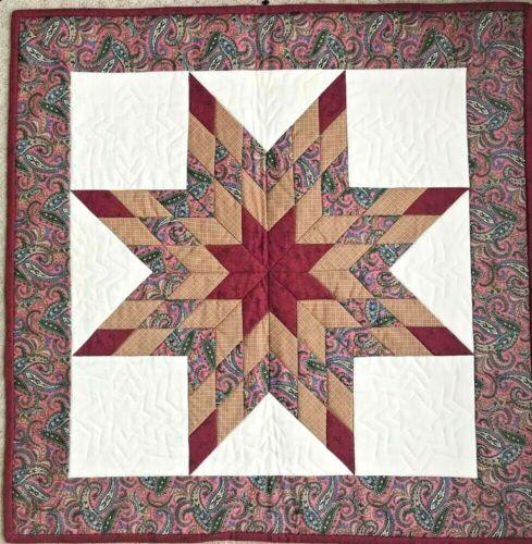 "Handmade Quilted LONESTAR Cotton Wall Hanging - 28"" x 28"""