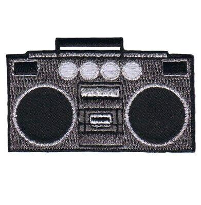 Boombox Tape Deck 80's 90's Applique Patch - Jambox, Radio Speakers (Iron on)](Children's Boombox)