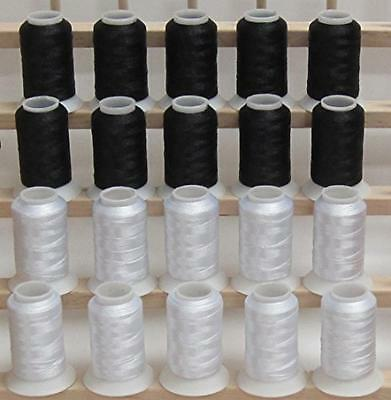 NEW ThreadNanny 10 White and 10 Black POLY MACHINE EMBROIDER
