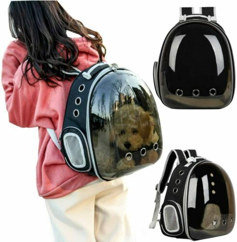 Polarized Transparent Traveler Bubble Backpack Pet Carrier for Cats & Dogs Brown